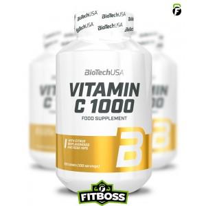 BiotechUSA C-Vitamin 1000 Bioflavonoids - 100 tabletta