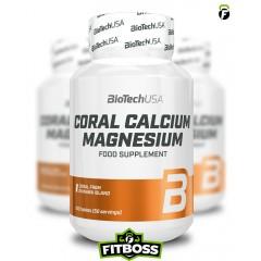 BiotechUSA Coral Calcium Magnesium - 100 tabletta