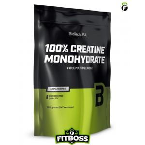 BiotechUSA 100% Creatine Monohydrate – 500g zacskó