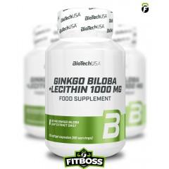 BiotechUSA Ginkgo Biloba + Lecithin - 90 kapszula