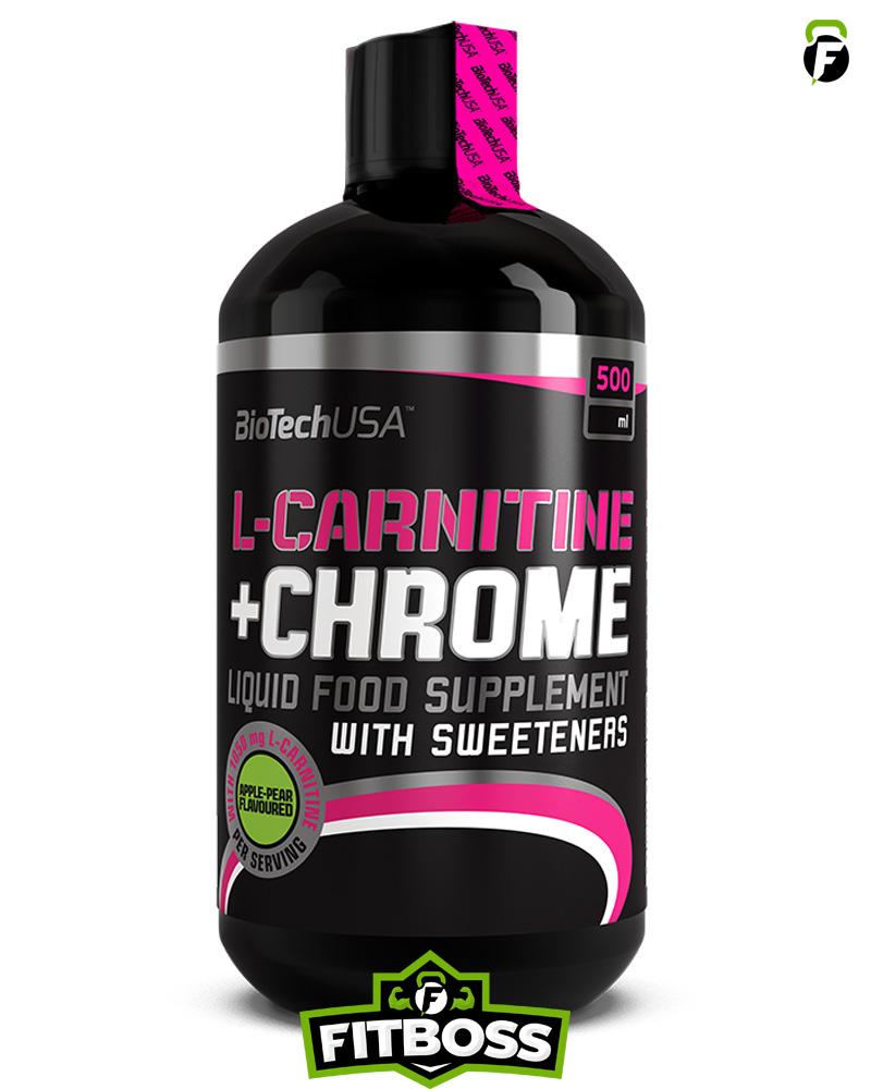 BiotechUSA L-Carnitine + Chrome – 500 ml