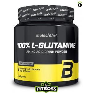 BiotechUSA 100% L-Glutamine – 240g