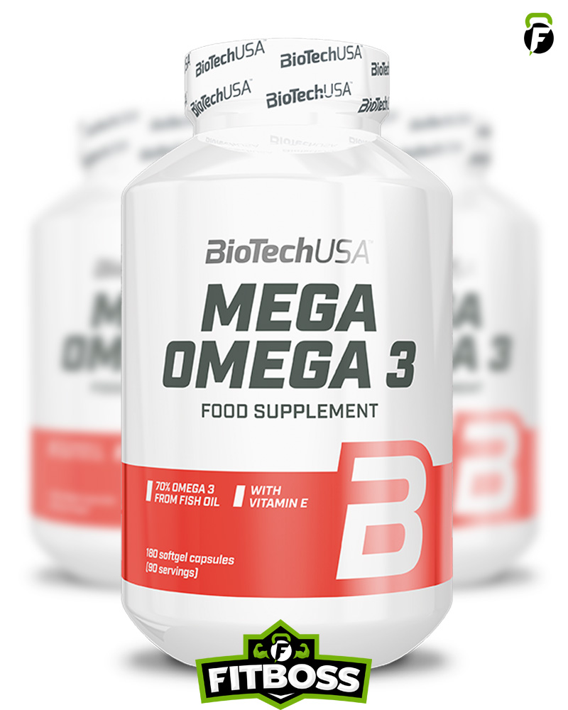 BiotechUSA Mega Omega 3 - 180 kapszula