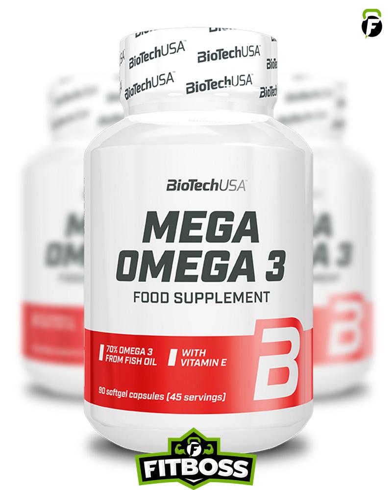 BiotechUSA Mega Omega 3 - 90 kapszula