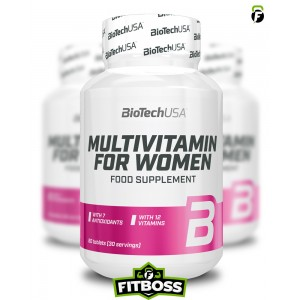 BiotechUSA Multivitamin for Women - 60 tabletta