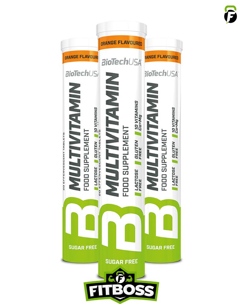 BiotechUSA Multivitamin pezsgőtabletta - 20 tabletta