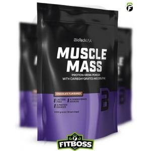 BiotechUSA Muscle Mass szénhidrát- és fehérjetartalmú italpor - 1000g