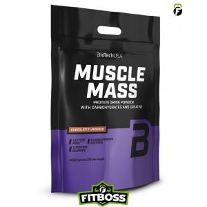 BiotechUSA Muscle Mass szénhidrát- és fehérjetartalmú italpor – 4000g