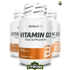 BiotechUSA Vitamin D3 - 60 tabletta